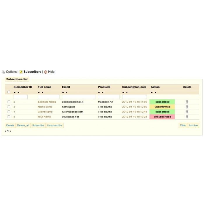module - электронные письма и уведомления - Product updates notifications - 8