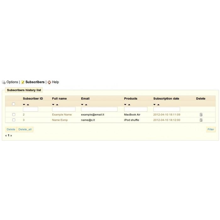 module - электронные письма и уведомления - Product updates notifications - 10
