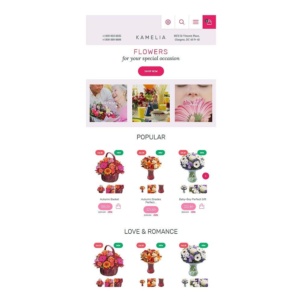 theme - Cadeaux, Fleurs et Fêtes - Kamelia - 7