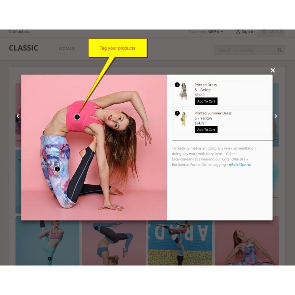 module - Slidery & Galerie - Shoppable Gallery -Customer shoppable on social gallery - 4