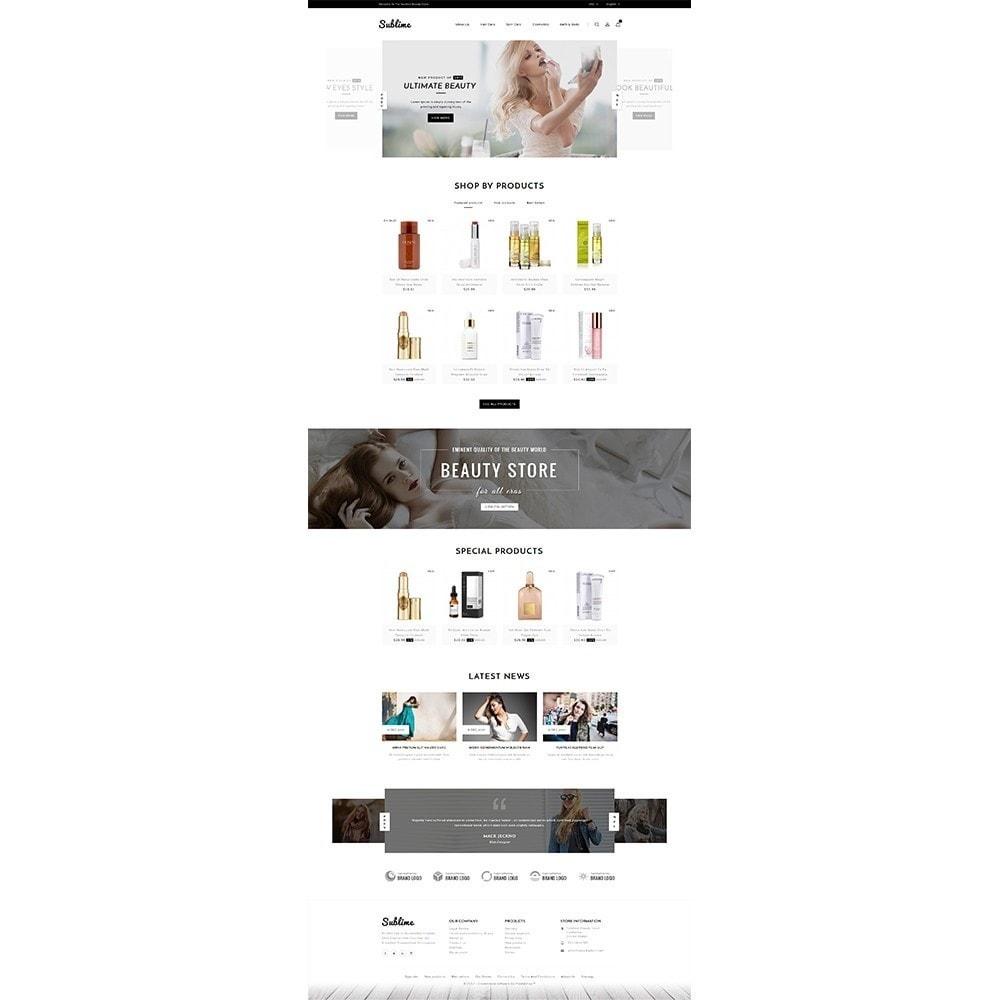 theme - Zdrowie & Uroda - Sublime Beauty Store - 2