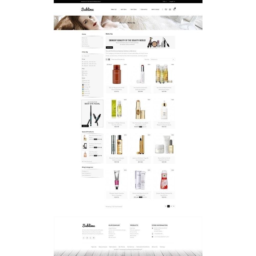 theme - Zdrowie & Uroda - Sublime Beauty Store - 3