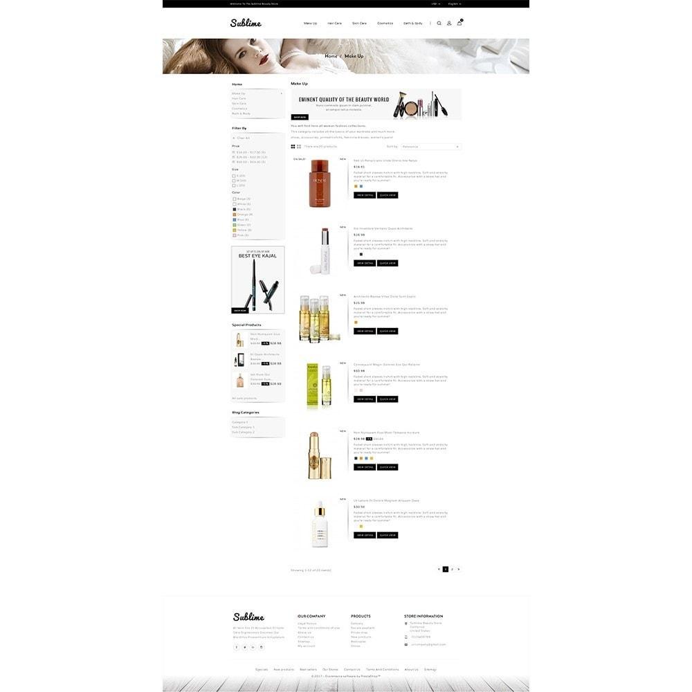 theme - Zdrowie & Uroda - Sublime Beauty Store - 4
