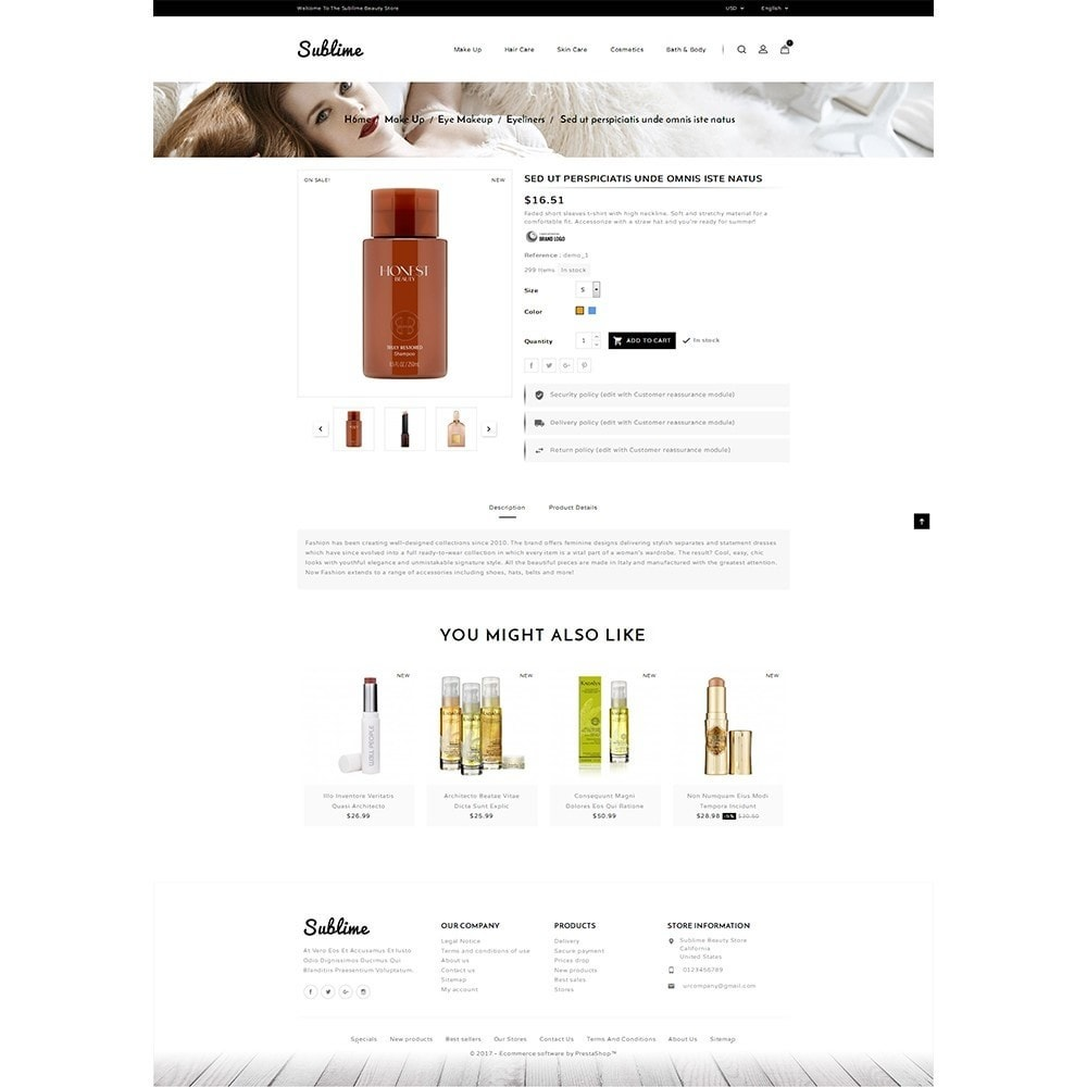 theme - Zdrowie & Uroda - Sublime Beauty Store - 6