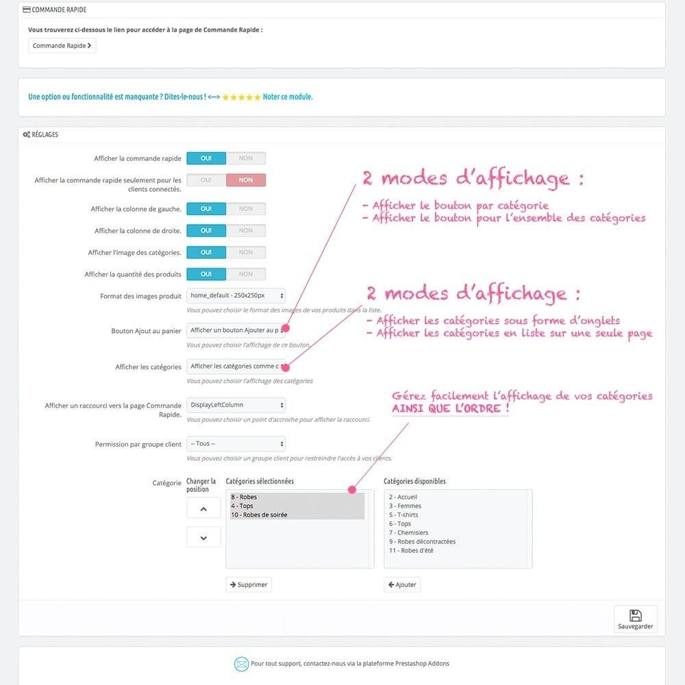 module - Inscription & Processus de commande - Commande Rapide par catégorie - 2