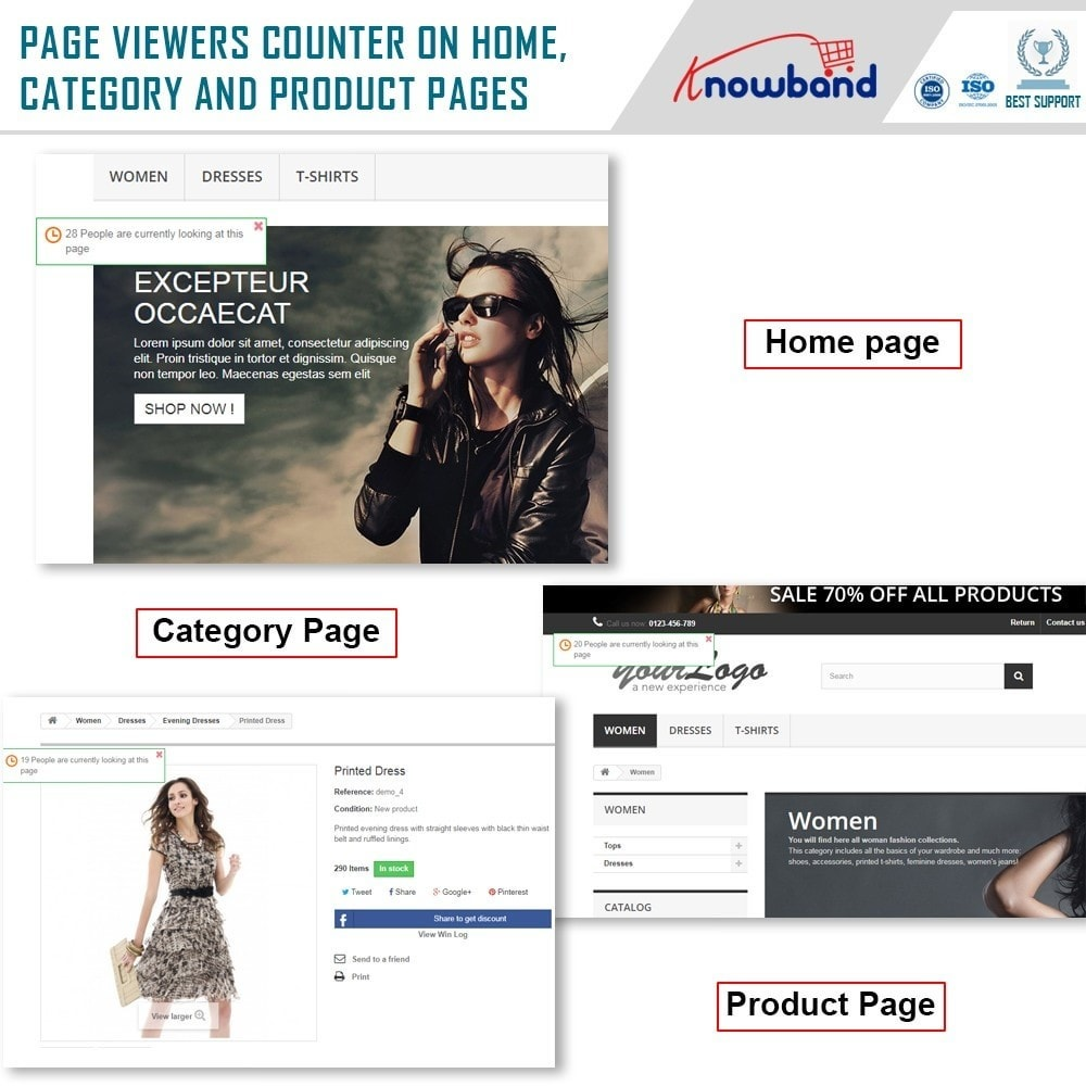 module - Altre informazioni & Product Tab - Knowband - Page Viewers Counter - 2
