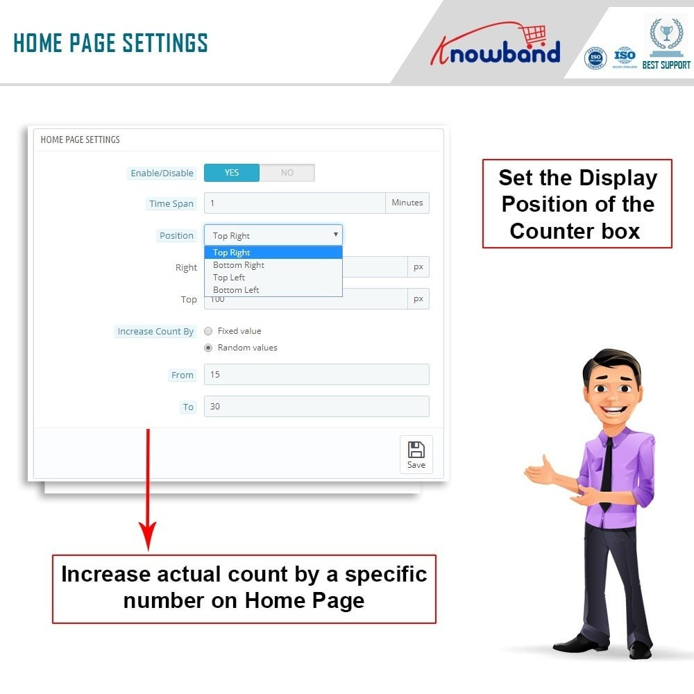module - Altre informazioni & Product Tab - Knowband - Page Viewers Counter - 4
