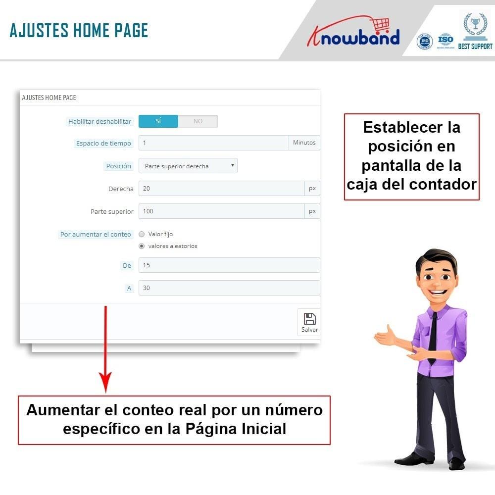 module - Informaciones adicionales y Pestañas - Knowband - Contador de visualizaciones de la página - 4