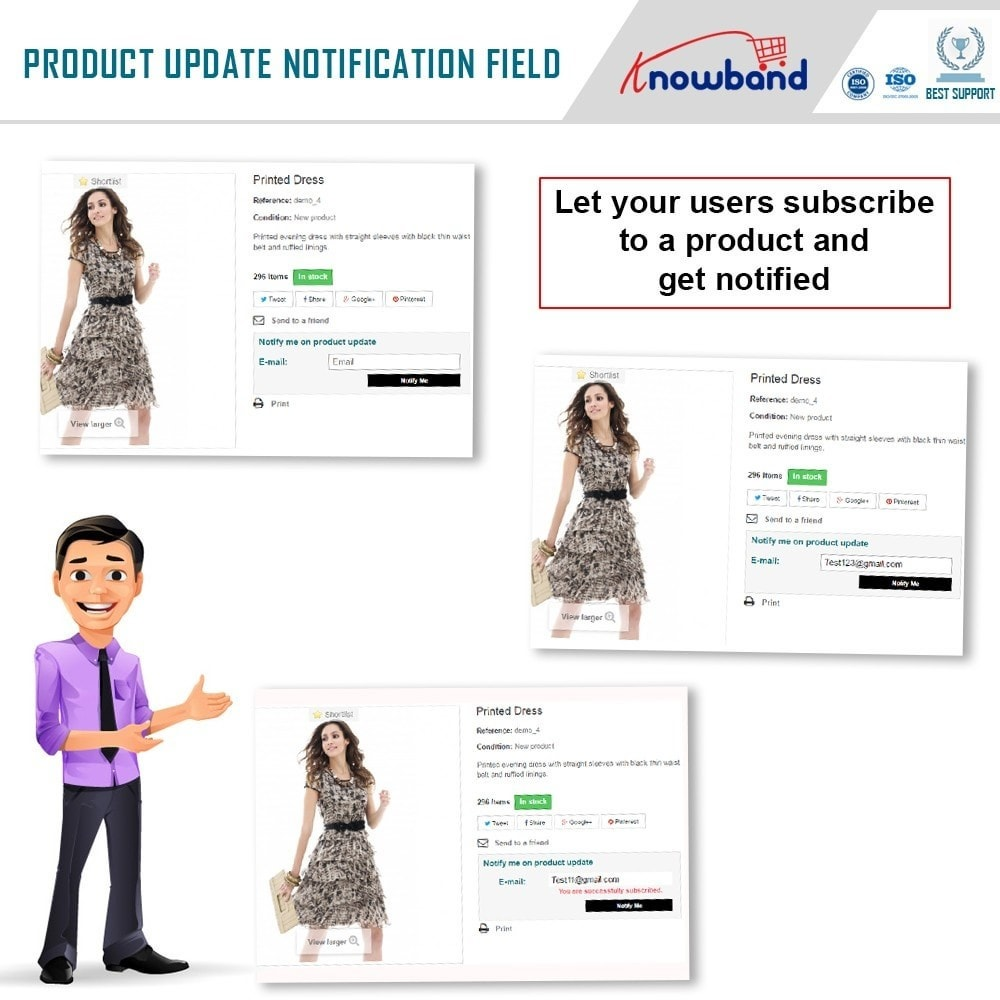 module - электронные письма и уведомления - Knowband - Product Update Notification - 2
