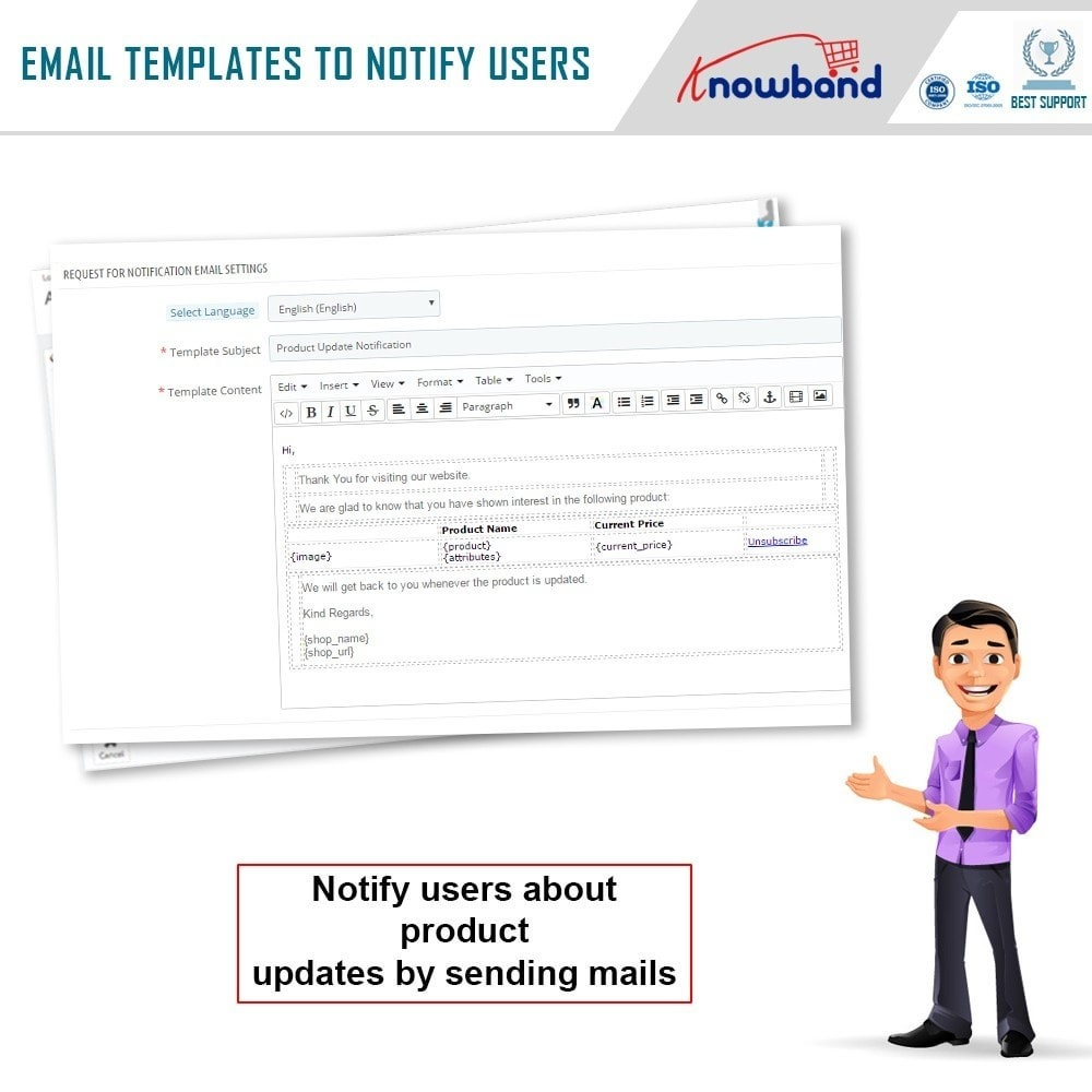 module - Emails & Notificaties - Knowband - Product Update Notification - 4