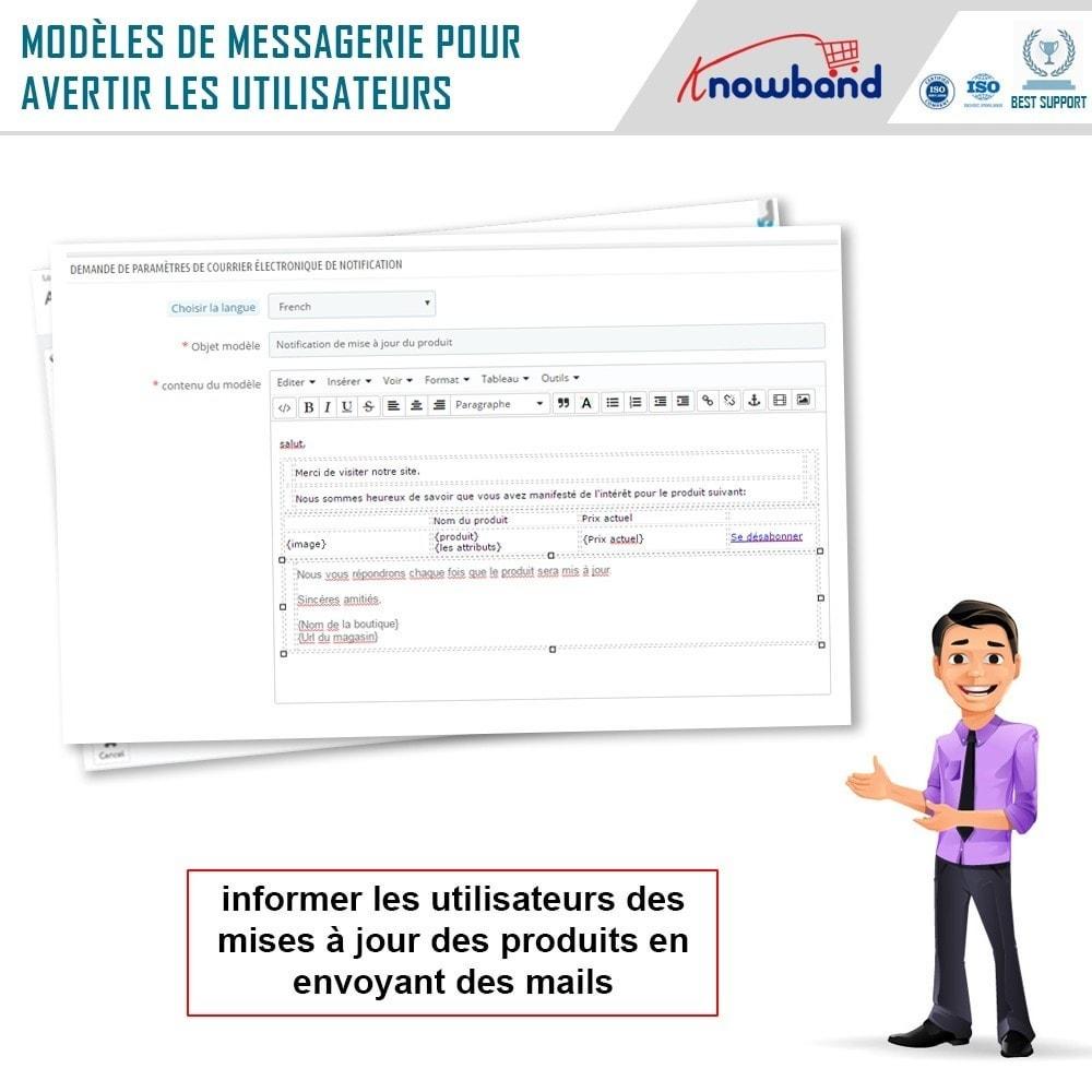 module - E-mails & Notifications - Knowband - Notification de Mise à Jour des Produits - 4