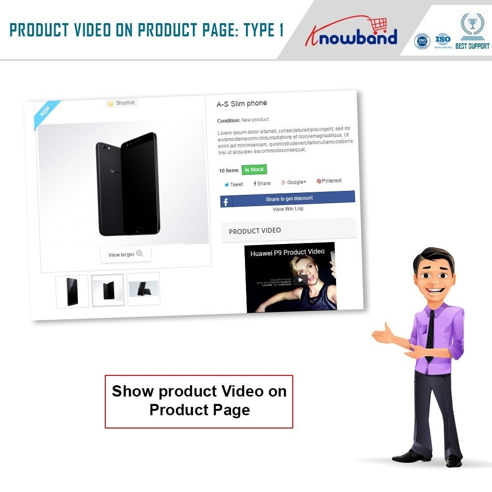 module - Videos & Music - Knowband - Product Videos (Youtube,Vimeo & Dailymotion) - 2