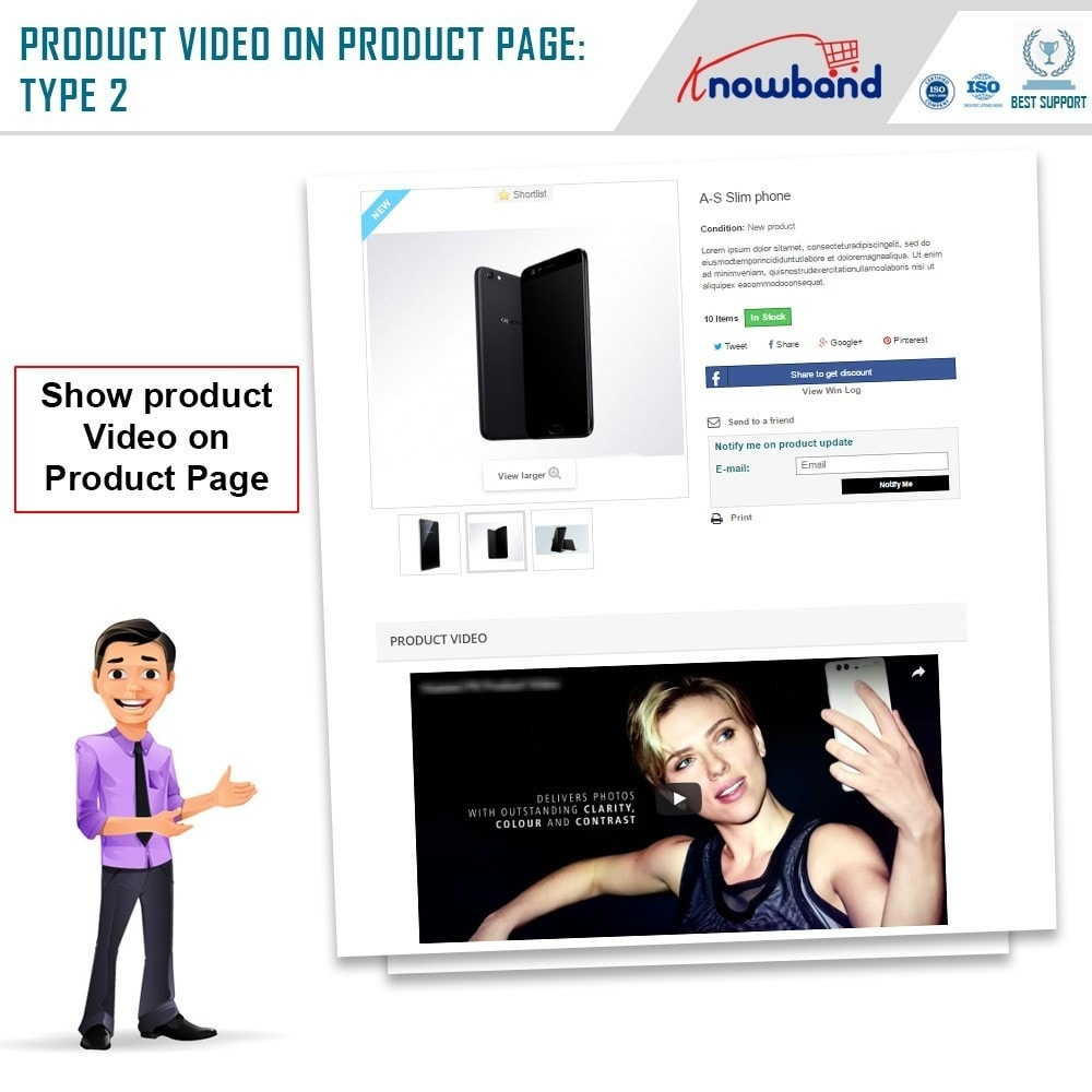 module - Videos & Music - Knowband - Product Videos (Youtube,Vimeo & Dailymotion) - 3
