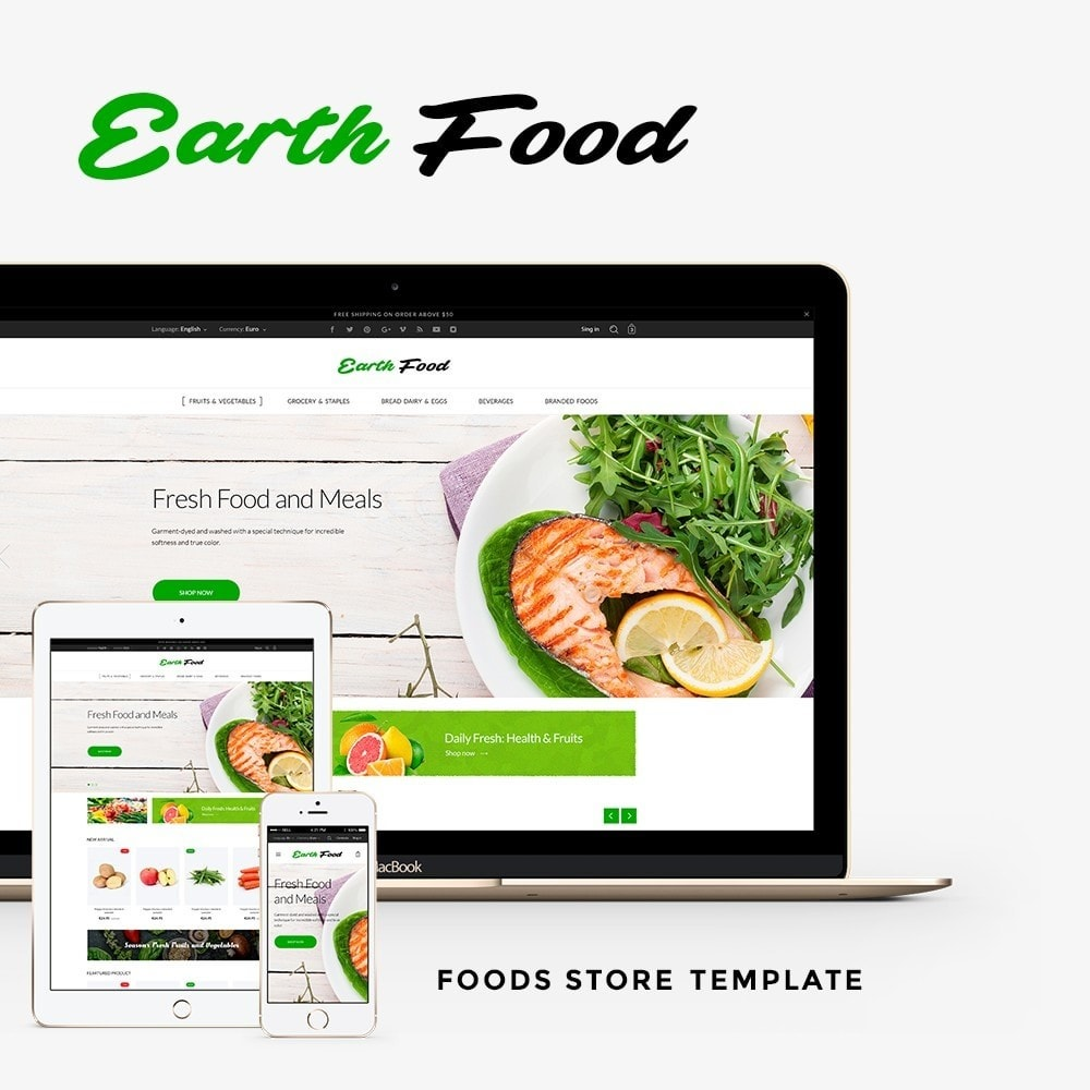 theme - Food & Restaurant - Earth Food - 1