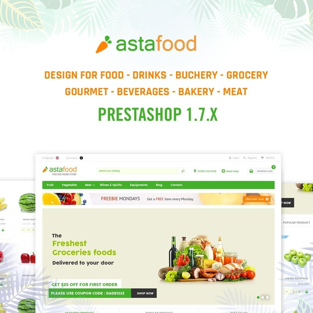 theme - Cibo & Ristorazione - Grocery, Gourmet, Meat, Beverages, Food, Drinks Store - 1