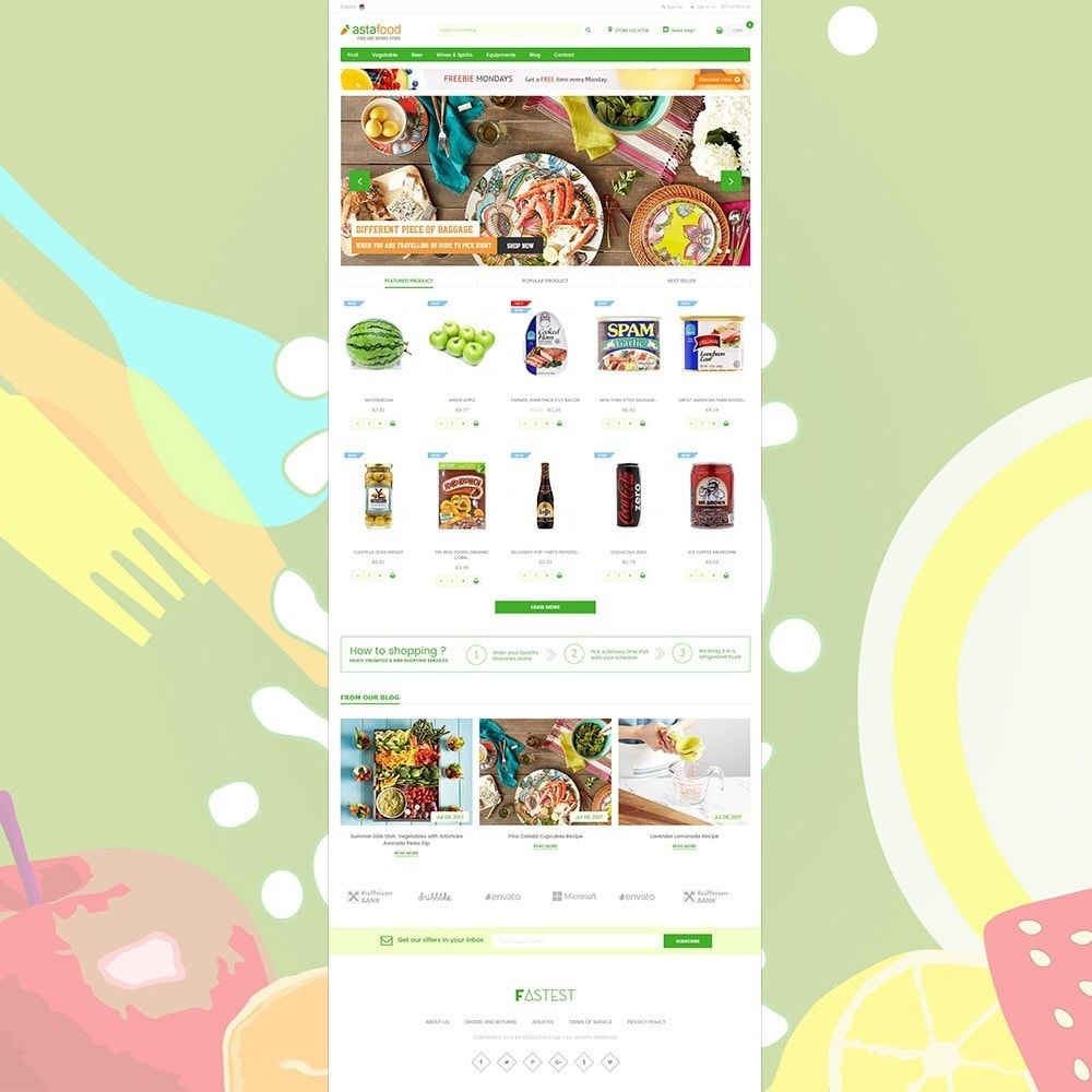 theme - Cibo & Ristorazione - Grocery, Gourmet, Meat, Beverages, Food, Drinks Store - 2