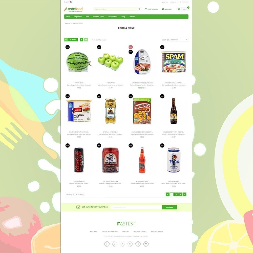 theme - Cibo & Ristorazione - Grocery, Gourmet, Meat, Beverages, Food, Drinks Store - 3