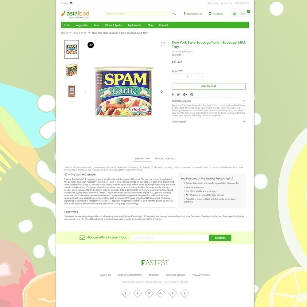 theme - Cibo & Ristorazione - Grocery, Gourmet, Meat, Beverages, Food, Drinks Store - 4