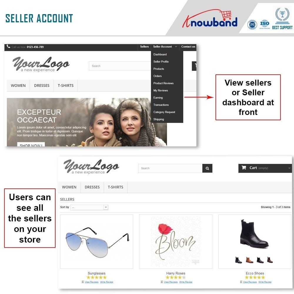 module - Marketplace Erstellen - Knowband - Prestashop Multi Vendor Marketplace - 2