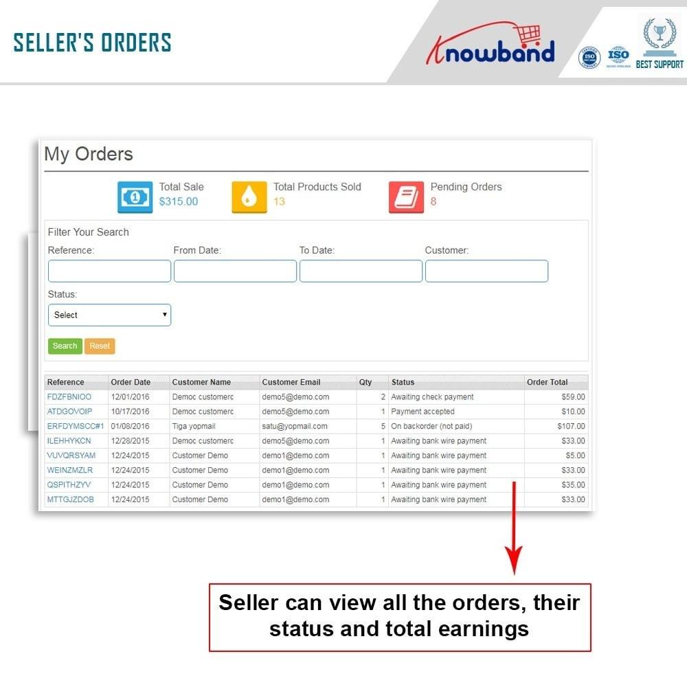 module - Создания торговой площадки - Knowband - Multi Vendor Marketplace - 7