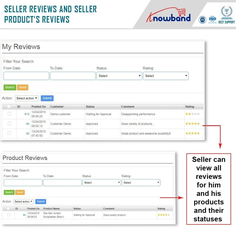 module - Marketplace Erstellen - Knowband - Prestashop Multi Vendor Marketplace - 8