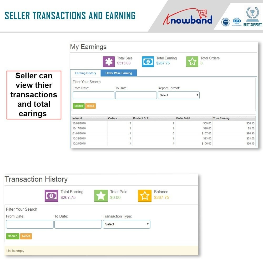 module - Создания торговой площадки - Knowband - Multi Vendor Marketplace - 9