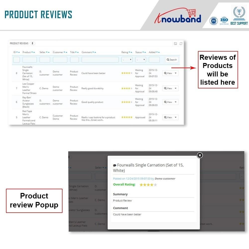 module - Создания торговой площадки - Knowband - Multi Vendor Marketplace - 19