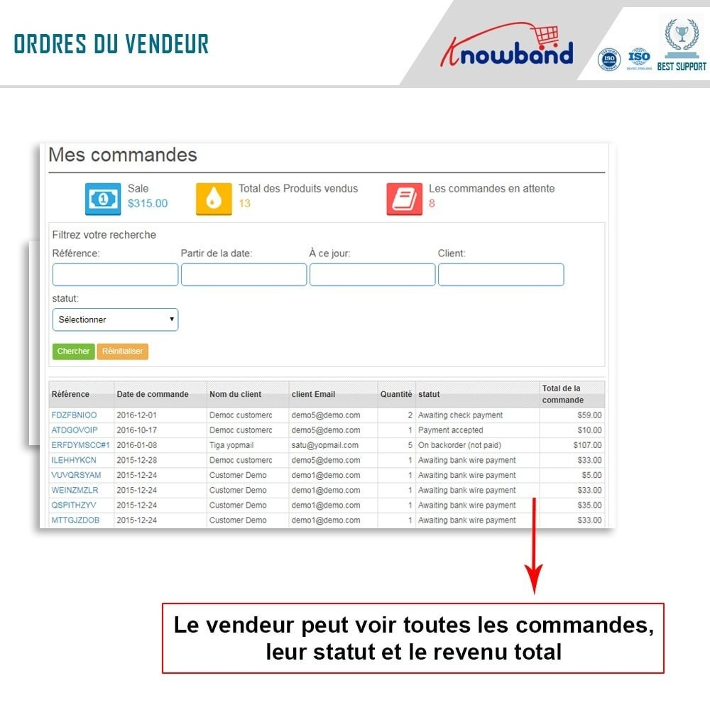 module - Création de Marketplace - Knowband - Prestashop Multi Vendor Marketplace - 6