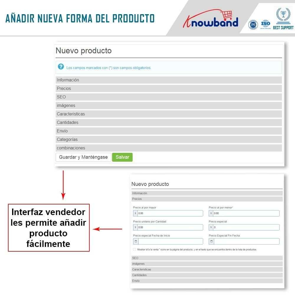 module - Creación de Marketplace - Knowband - Prestashop Multi Vendor Marketplace - 5