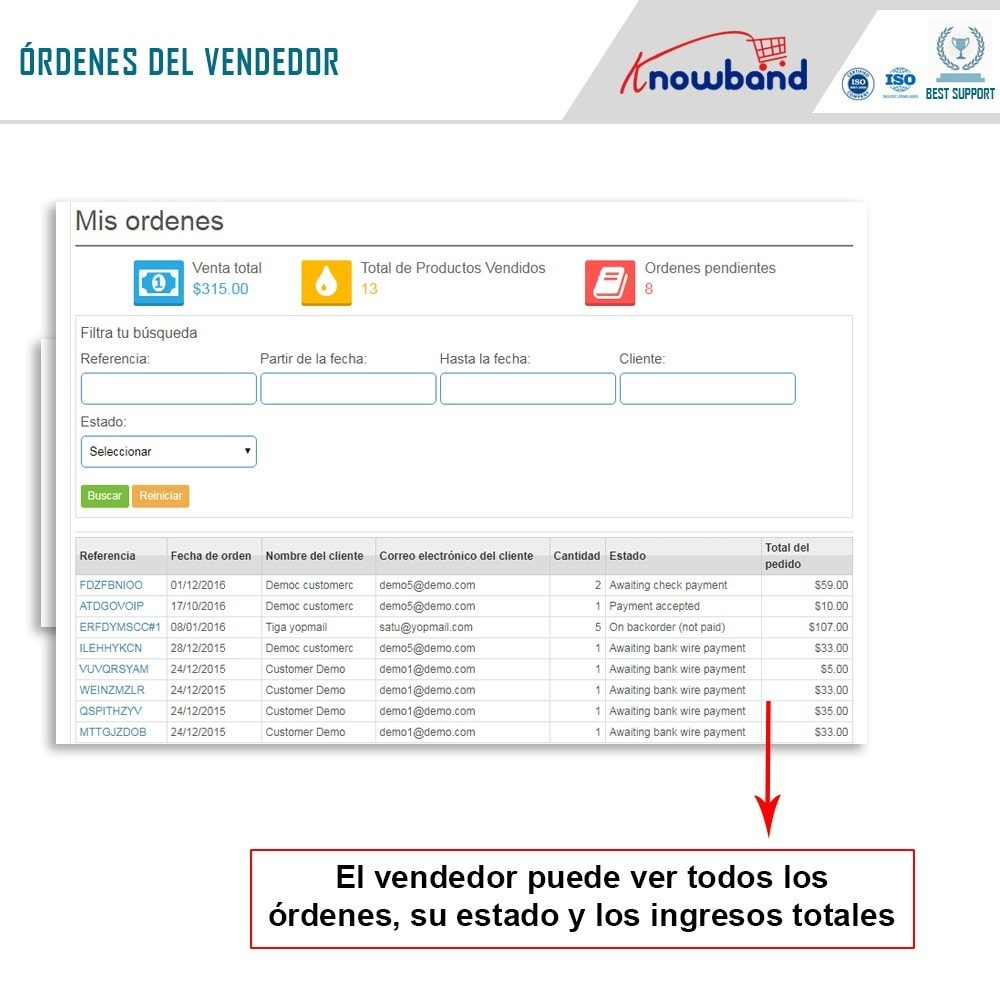module - Creación de Marketplace - Knowband - Prestashop Multi Vendor Marketplace - 6