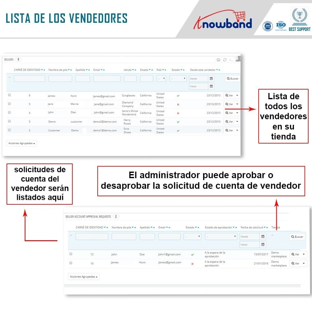 module - Creación de Marketplace - Knowband - Prestashop Multi Vendor Marketplace - 15