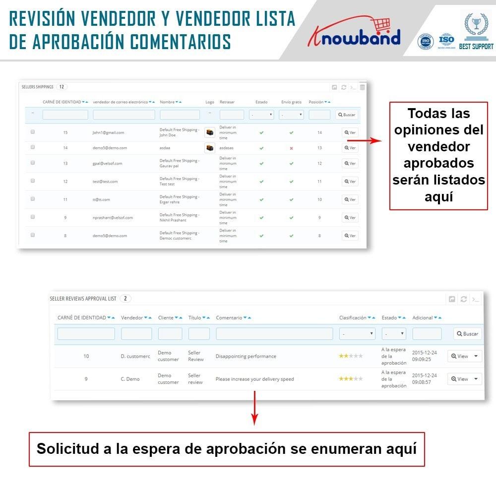 module - Creación de Marketplace - Knowband - Prestashop Multi Vendor Marketplace - 19