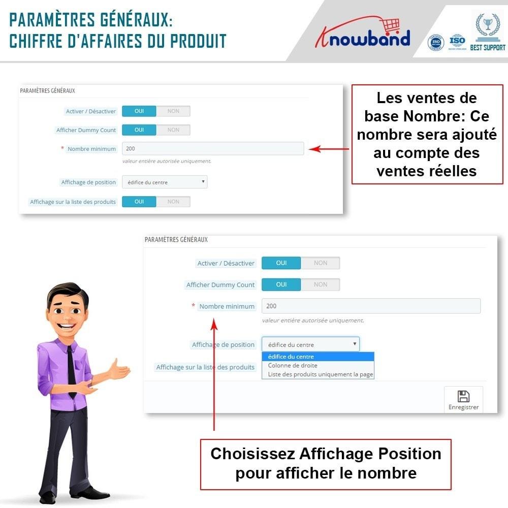 module - Information supplémentaire & Onglet produit - Knowband - Compteur des Ventes de Produits - 5