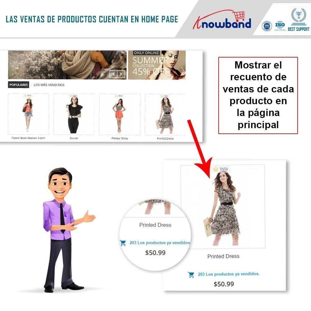 module - Informaciones adicionales y Pestañas - Knowband - Conteo de ventas de productos - 2