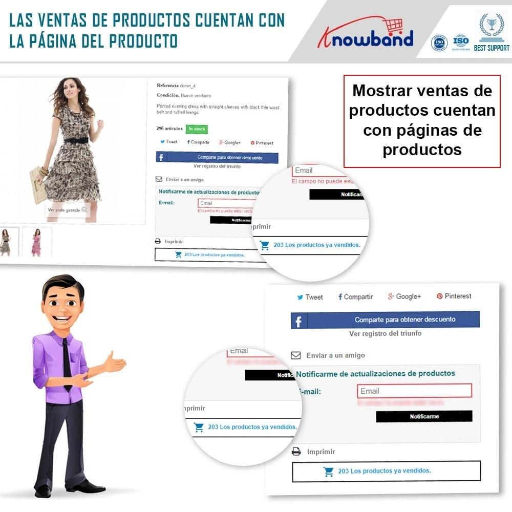 module - Informaciones adicionales y Pestañas - Knowband - Conteo de ventas de productos - 3