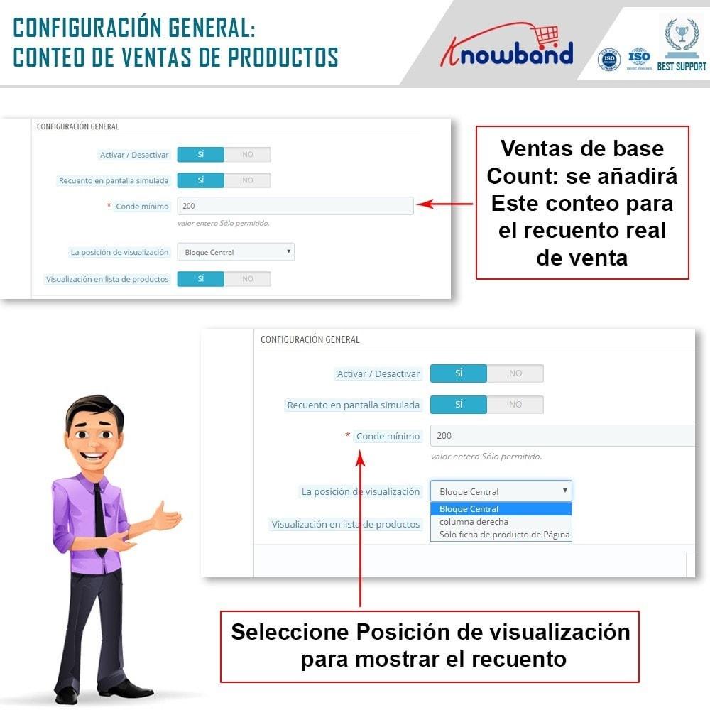 module - Informaciones adicionales y Pestañas - Knowband - Conteo de ventas de productos - 5