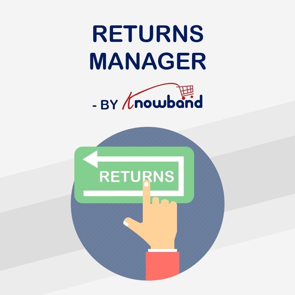 module - Customer Service - Knowband - Order Return Manager(Return Slip & Barcode) - 1