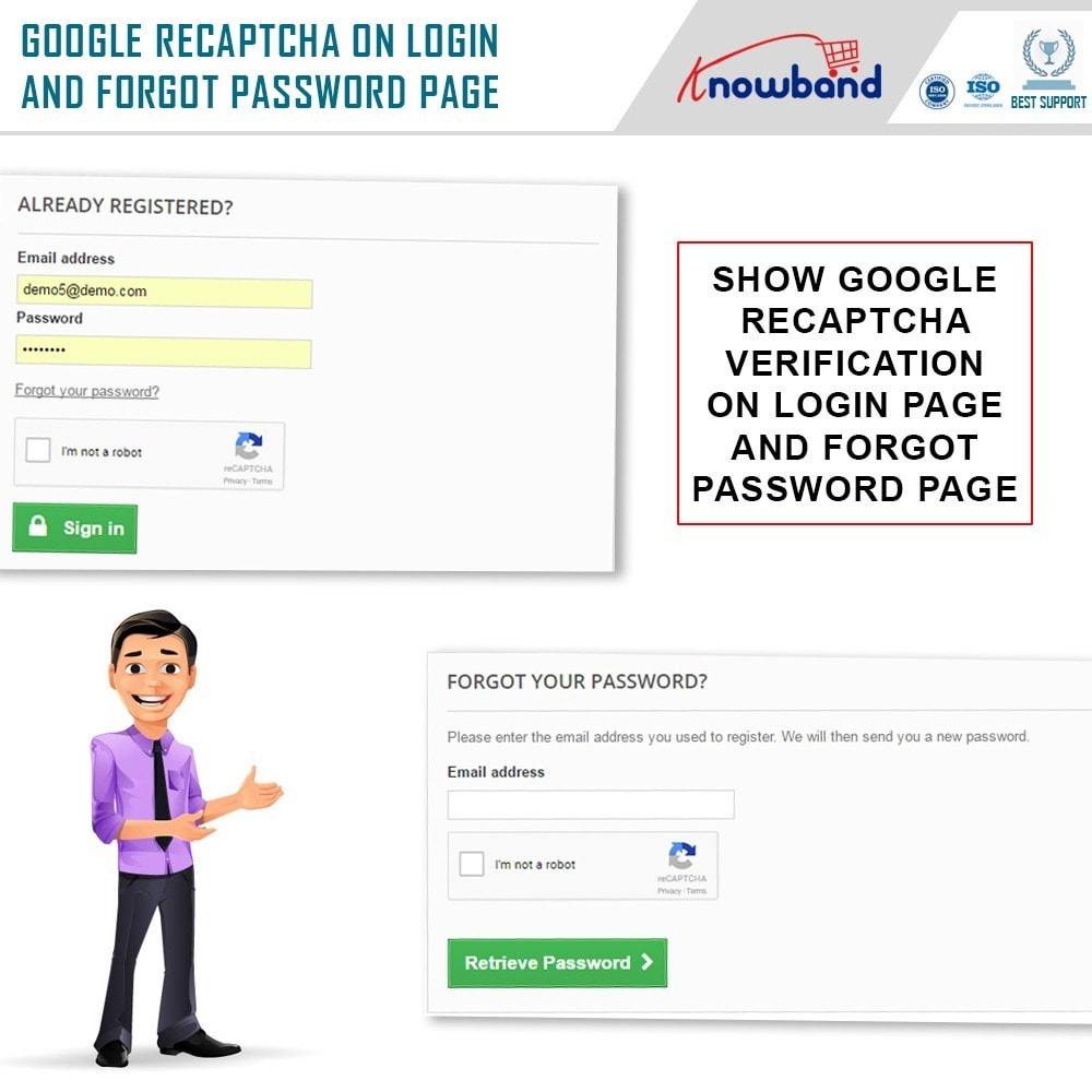 module - Security & Access - Knowband - Google reCaptcha - 2