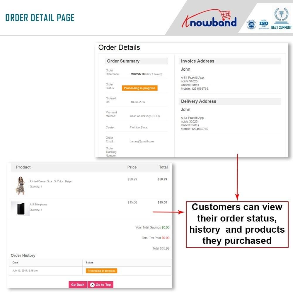 module - Zarządzanie zamówieniami - Knowband - Mobile Order Lookup - Track Order Status - 3