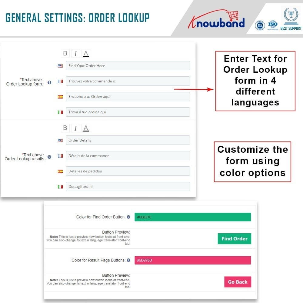 module - Gestione Ordini - Knowband - Mobile Order Lookup - Track Order Status - 4