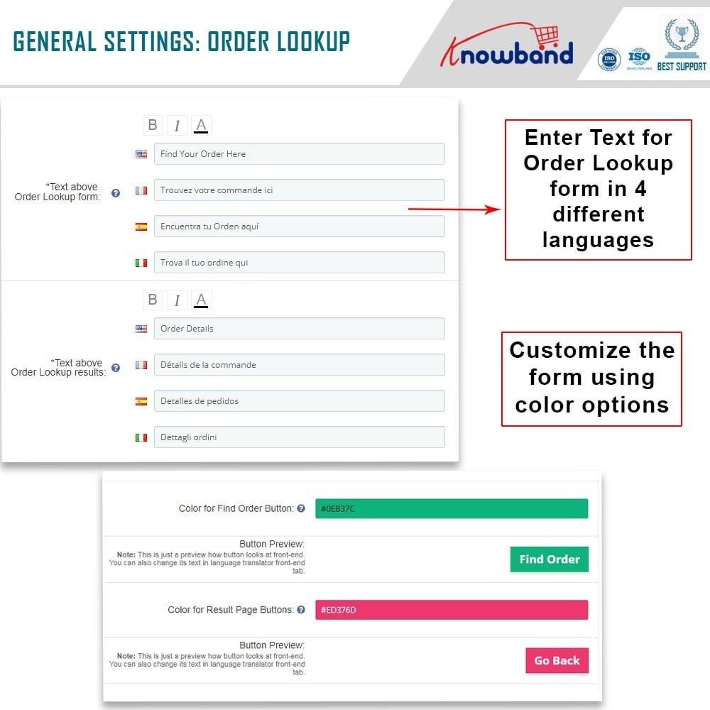 module - Zarządzanie zamówieniami - Knowband - Mobile Order Lookup - Track Order Status - 4