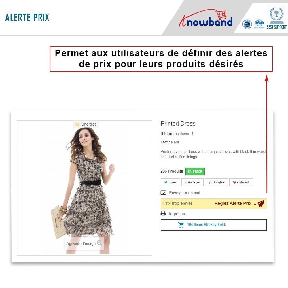 module - Gestion des Prix - Knowband - Alerte de Prix - Notification des clients - 2