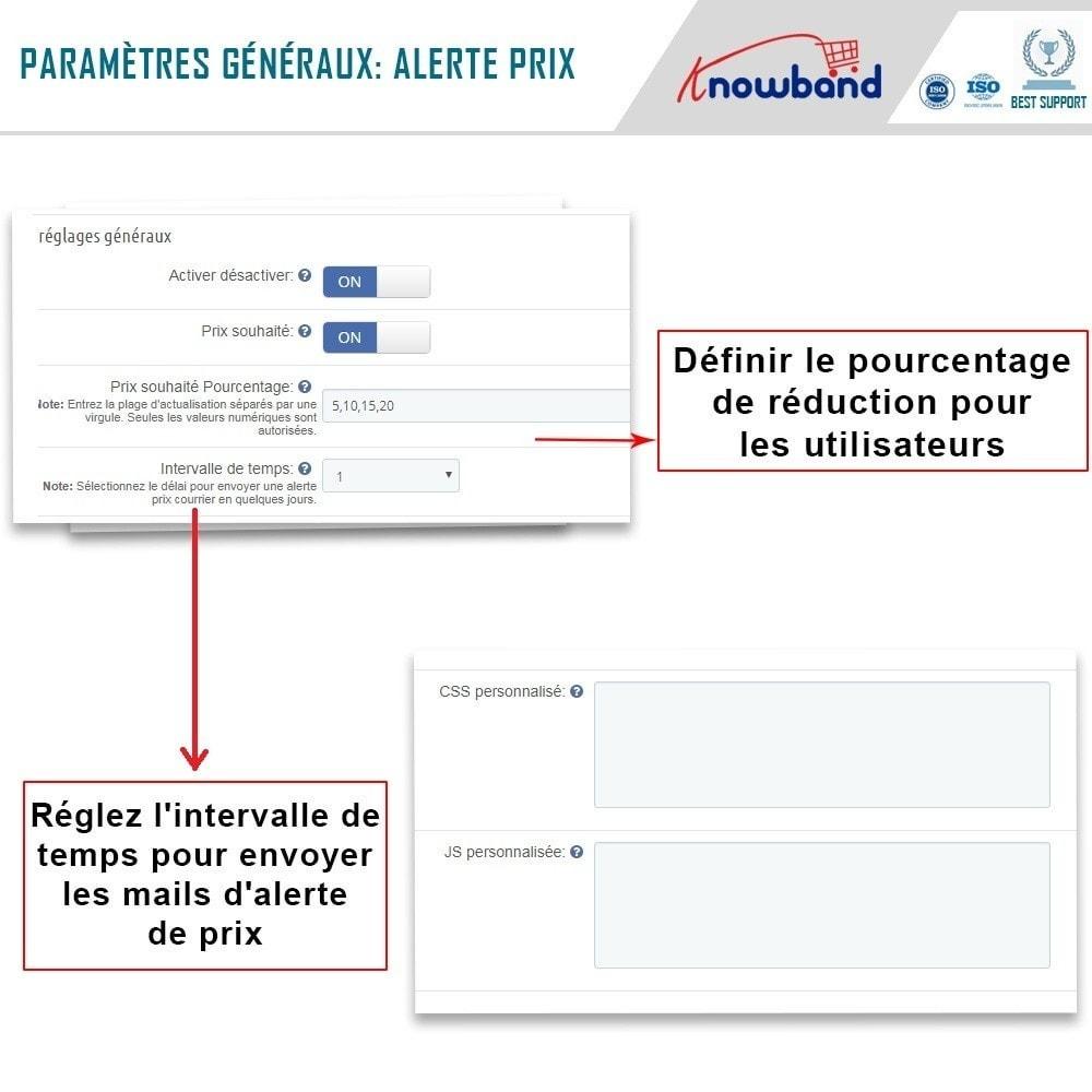module - Gestion des Prix - Knowband - Alerte de Prix - Notification des clients - 4