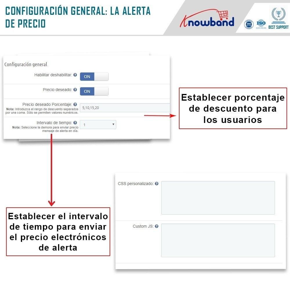 module - Gestión de Precios - Knowband - Alerta de precio - Notificar a los clientes - 4