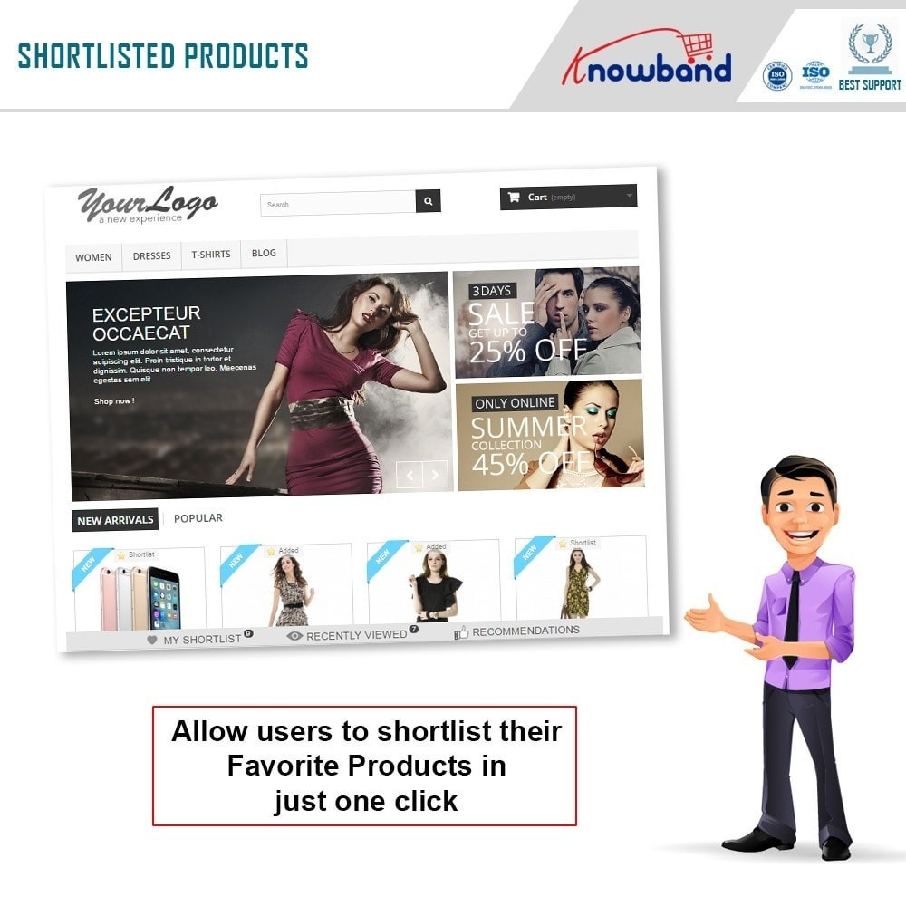 module - Whishlist & Gift Card - Knowband - Prestashop Advanced Wishlist/Save For Later - 2
