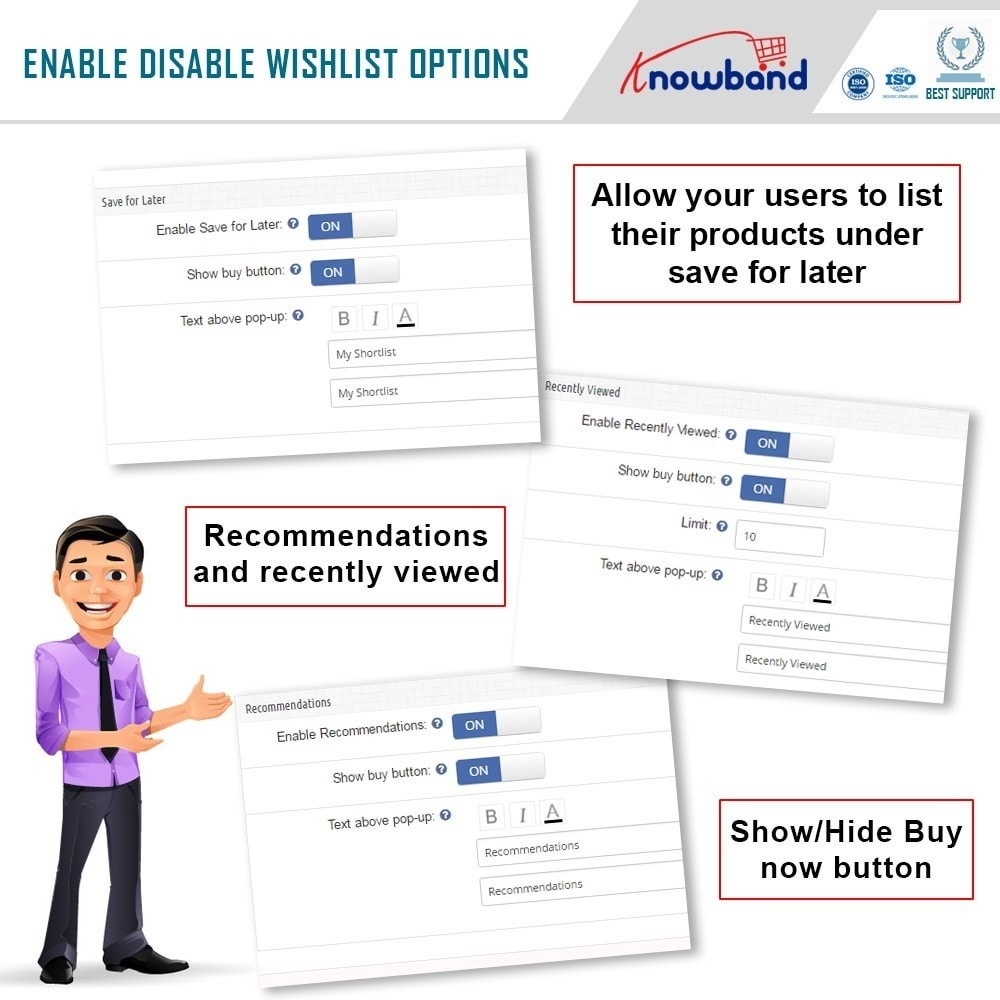 module - Whishlist & Gift Card - Knowband - Advanced wish list - 5