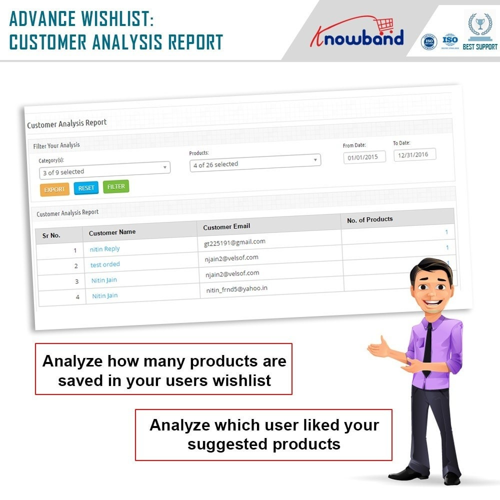 module - Whishlist & Gift Card - Knowband - Prestashop Advanced Wishlist/Save For Later - 8