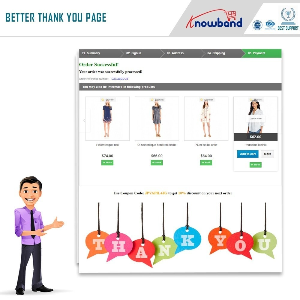 module - Registration & Ordering Process - Knowband - Better Thank You Page (Success Page) - 2