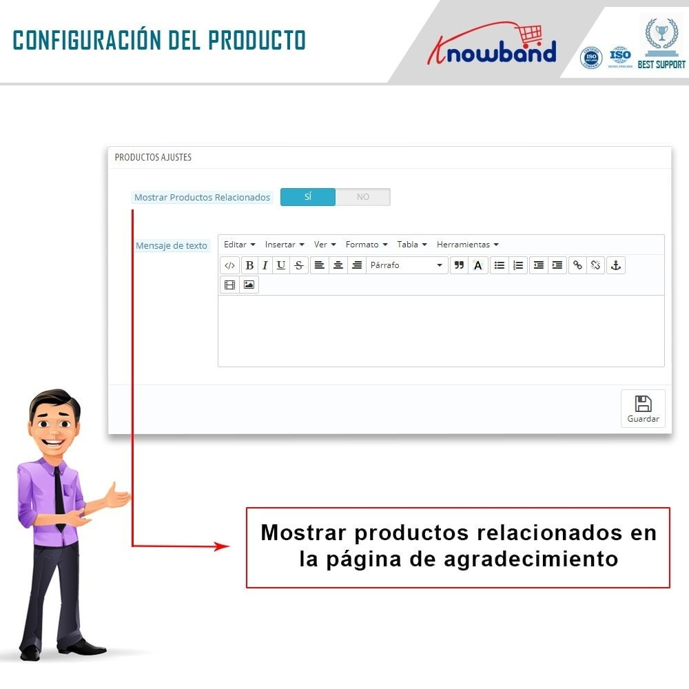 module - Inscripción y Proceso del pedido - Knowband - Página de Agradecimiento - 4