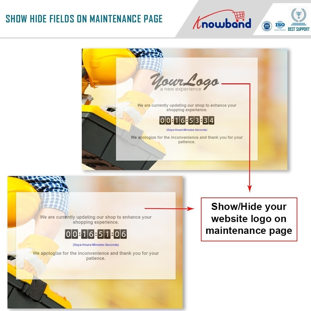 module - Page Customization - Knowband - Maintenance Page Customizer - 3